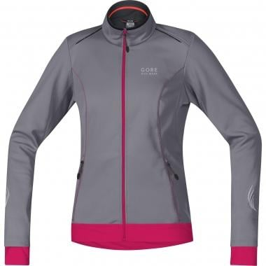 Giacca GORE BIKE WEAR ELEMENT WINDSTOPPER SOFT SHELL Donna Grigio/Rosa