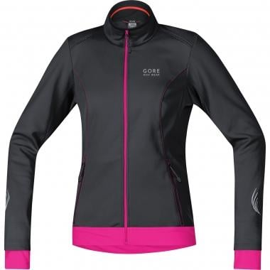Casaco GORE BIKE WEAR ELEMENT WINDSTOPPER SOFT SHELL Mulher Preto/Magenta