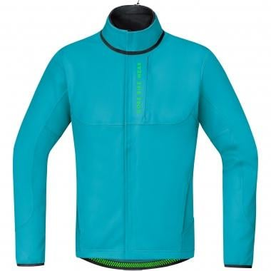 Veste GORE BIKE WEAR POWER TRAIL WINDSTOPPER SOFT SHELL THERMO Scuba Bleu