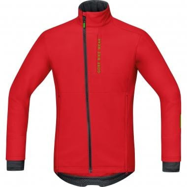 Giacca GORE BIKE WEAR POWER TRAIL WINDSTOPPER SOFT SHELL Rosso 2016