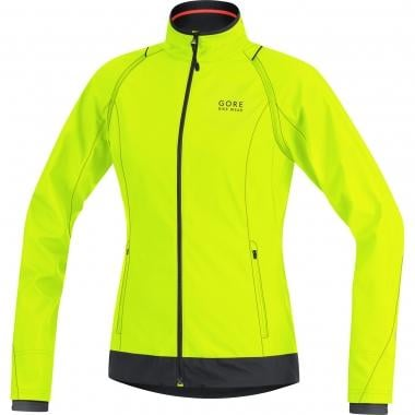 Casaco GORE BIKE WEAR ELEMENT WINDSTOPPER ACTIVE SHELL ZIP-OFF Mulher Amarelo Fluorescente/Preto
