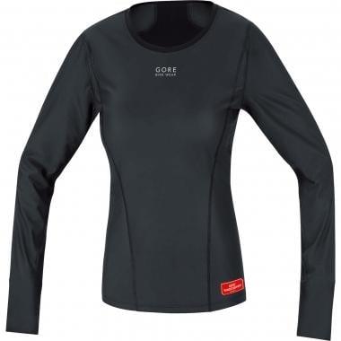 T-Shirt GORE BIKE WEAR BASE LAYER WINSTOPPER THERMO Donna Maniche Lunghe Nero