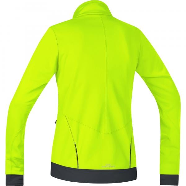 Wear Femme Gore Bike Veste Soft Windstopper E Fluo Jaune Shell T6nHg