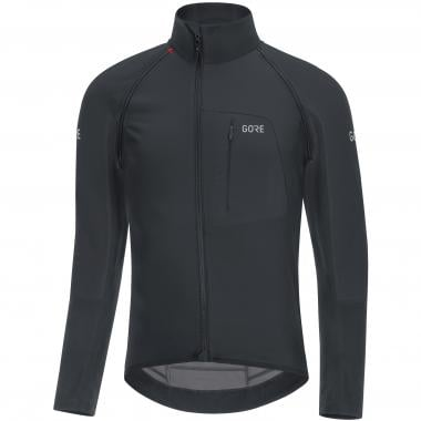 GORE WEAR C7 WINDSTOPPER PRO ZIP-OFF Long-Sleeved Jersey Detachable Sleeves Black