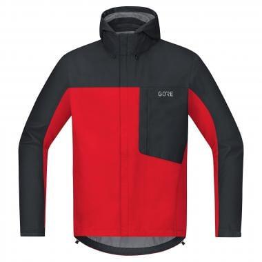 Veste à Capuche GORE WEAR C3 GORE-TEX PACLITE Noir/Rouge