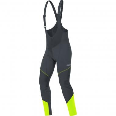 Cuissard Long à Bretelles GORE WEAR C3 WINDSTOPPER Noir/Jaune
