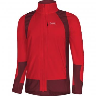 Veste GORE WEAR C5 PARTIAL WINDSTOPPER THERMIQUE Rouge