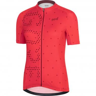 Maillot GORE WEAR C3 BRAND Femme Manches Courtes Rouge
