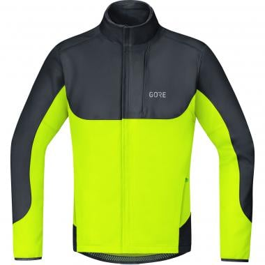 Veste GORE WEAR C5 WINDSTOPPER THERMO TRAIL Noir/Jaune Fluo 2019