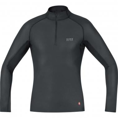 Maillot GORE BIKE WEAR BASE LAYER WINDSTOPPER Cuello alto Mangas Largas Negro