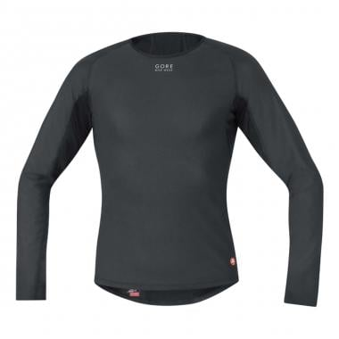 Maillot GORE BIKE WEAR BASE LAYER WINDSTOPPER THERMO Mangas largas Negro