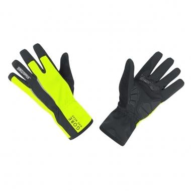 Guantes GORE BIKE WEAR POWER WINDSTOPPER SOFT SHELL Negro/Amarillo Fluorescente