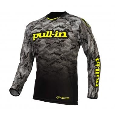 Maillot PULL IN BMX Mangas largas Negro/Amarillo fluo 2016
