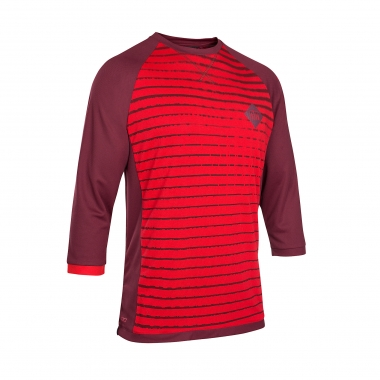 Maillot ION SCRUB_AMP Manches 3/4 Rouge 2017