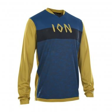 Maillot ION SCRUB AMP Manches Longues Bleu/Ocre 2020