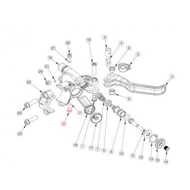 Vis et Joint de Réservoir pour Levier FORMULA CURA #FD40274-20