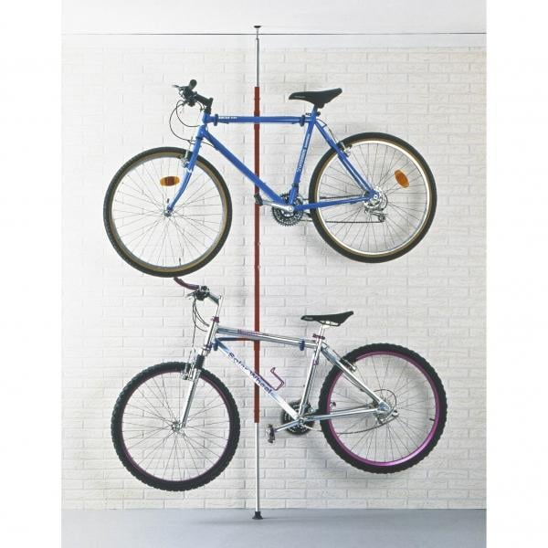Soporte de bicicletas suelo pared mottez 2 bicicletas for Soporte para bicicletas suelo