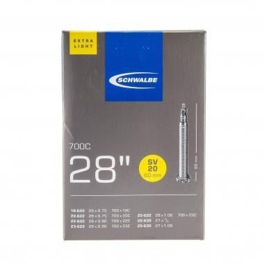 Câmara de Ar SCHWALBE EXTRALIGHT SV20 700x18/25c Valve 60 mm
