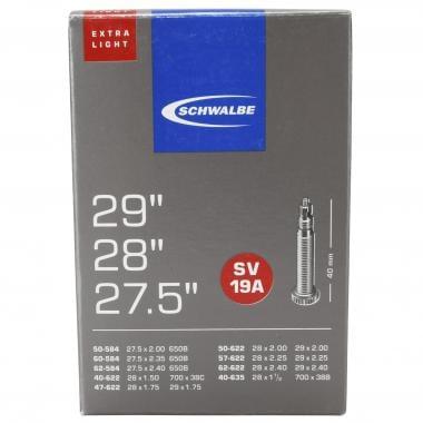 Chambre à Air SCHWALBE EXTRA LIGHT SV 19A 27,5/29x1,50/2,35 Butyl Presta 40 mm