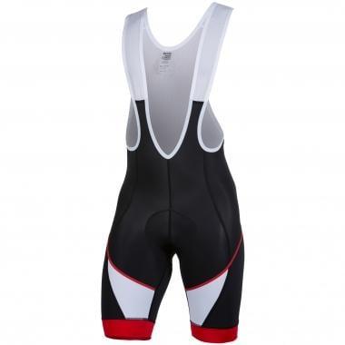 Pantaloncini con Bretelle SPIUK RACE Nero/Rosso/Bianco