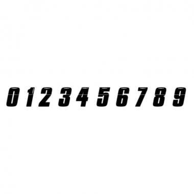 Número de placa INSIGHT 7,5 cm Preto