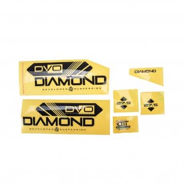 """Adesivi per Forcella DVO DIAMOND 27,5"""" Nero"""