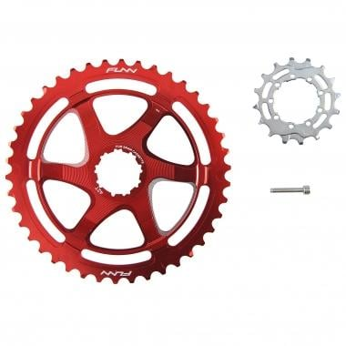 FUNN 40/42 Teeth Conversion Kit for 10 Speed Sram Cassette with 16 Tooth Cog Red
