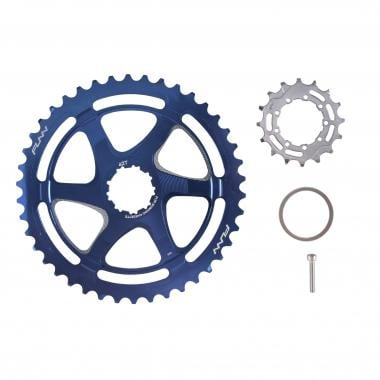 Kit de Conversion 40/42 Dents FUNN pour Cassette 10V Shimano avec Pignon 16 Dents Bleu