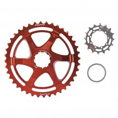 Kit de Conversion 40/42 Dents FUNN pour Cassette 10V Shimano avec Pignon 16 Dents Orange