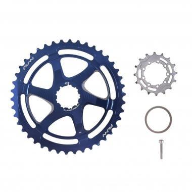 Kit de Conversion 40/42 Dents FUNN pour Cassette 10V Sram avec Pignon 16 Dents Bleu