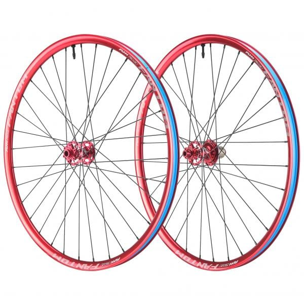 "Par de ruedas FUNN FANTOM AM 29"" Eje delantero 15 mm - Trasero 12x142 mm Rojo 2017"