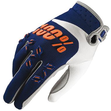 Gants 100% AIRMATIC Bleu Marine/Orange