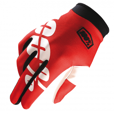 Guantes 100% ITRACK FIRE RED Rojo