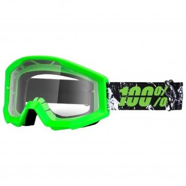 100% STRATA CRAFTY LIME Goggles Clear Lens