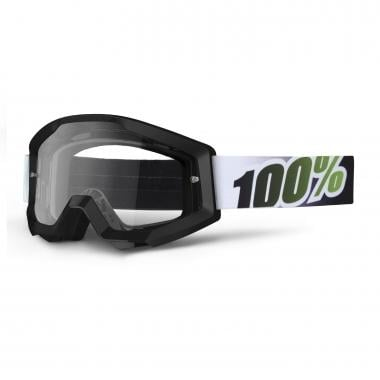 100% STRATA BLACK LIME Goggles Clear Lens