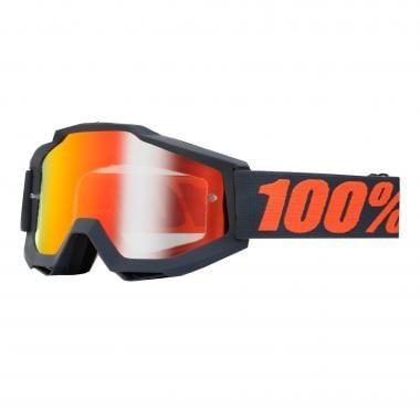 Masque 100% ACCURI GUN METAL Écran Miroir Red
