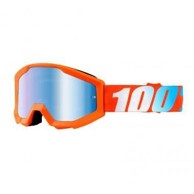 Masque 100% STRATA Orange Écran Mirror Blue