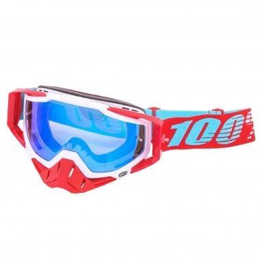100% RACECRAFT KEPLER Goggles Mirror Lens Blue 2017