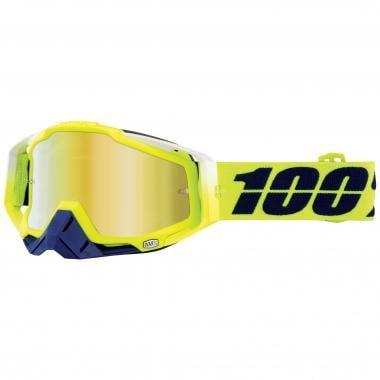 100% RACECRAFT TANAKA Goggles Mirror Lens Yellow 2017