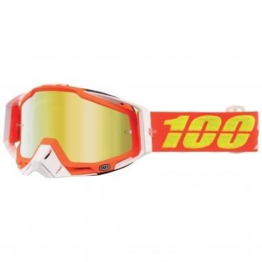 Maschera 100% RACECRAFT RAZMATAZ Lente Specchio Arancione 2017