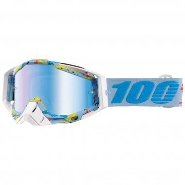 Gafas máscara 100% RACECRAFT HYPERLOOP Lente espejo Azul 2017