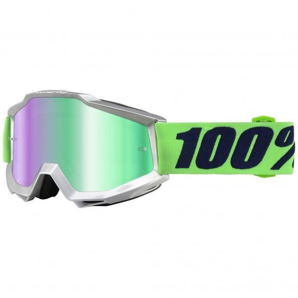 Gafas máscara 100% ACCURI NOVA Lente espejo Verde 2017