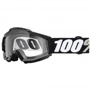 Masque 100% ACCURI TORNADO Noir Écran Transparent