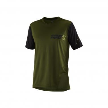 Maillot 100% RIDECAMP Manches Courtes Vert