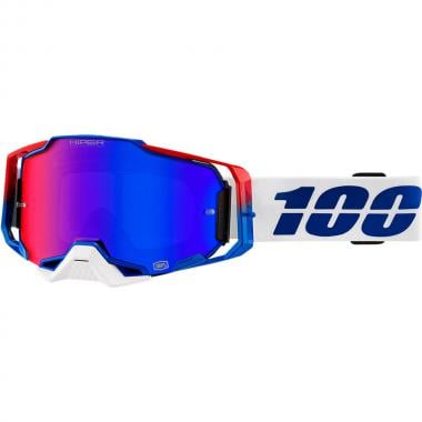 Masque 100% ARMEGA GENESIS HiPER Bleu/Rouge Écran Iridium 2020