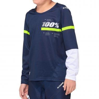 Maillot 100% R-CORE Enfant Manches Longues Bleu