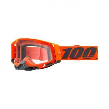 Masque 100% RACECRAFT 2 KERV Orange Écran Transparent 2021