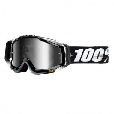Masque 100% RACECRAFT ABYSS BLACK Écran Miroir Argent