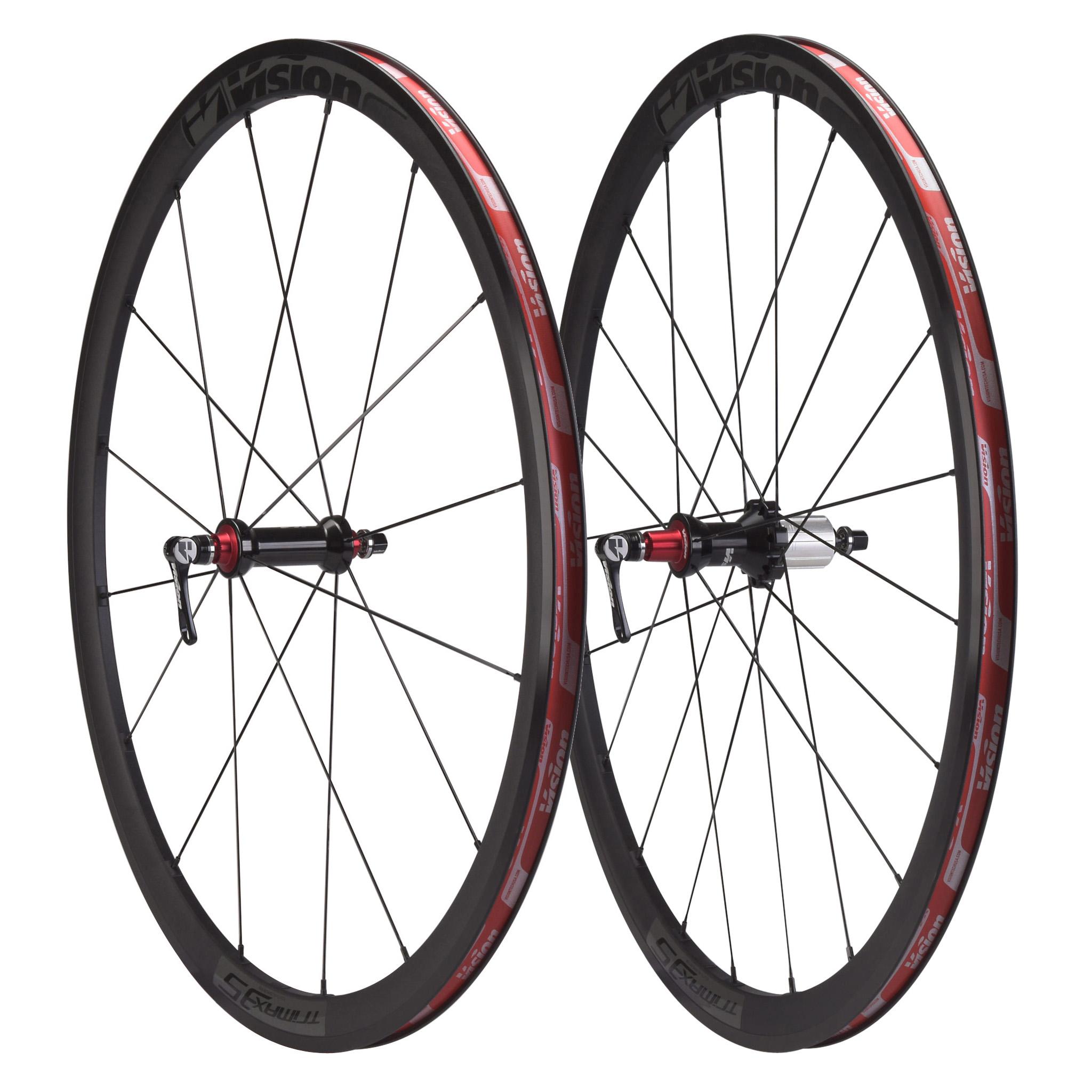 Par de ruedas VISION TRIMAX 35 Para cubiertas Negro
