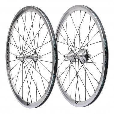 Par de ruedas PRIDE RIVAL EX 28H 20x1-3/8 Plata